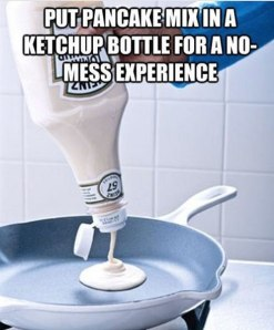 Pancake Batter Ketchup Bottle
